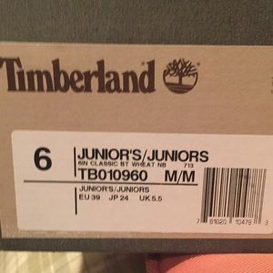 Youth size 6 used Timberland waterproof boots .